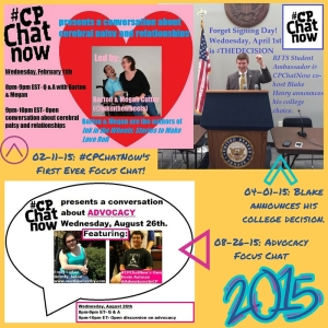 Virtual scrapbook page noting highlights from #CPChatNow's memorable 2015.