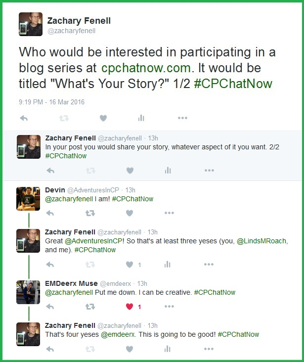 Participants in the CPChatNow community come together to plan a special blog series.