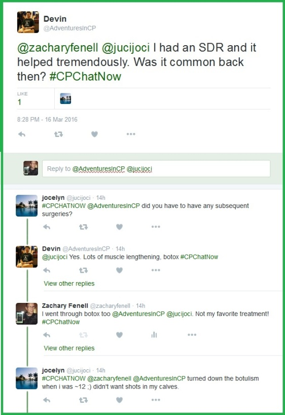 #CPChatNow community members discuss their experiences with selective dorsal rhizotomy (SDR).
