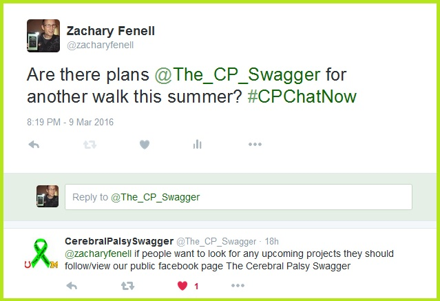 Hunter directs those curious about Cerebral Palsy Swagger's future activities to the appropriate resource.