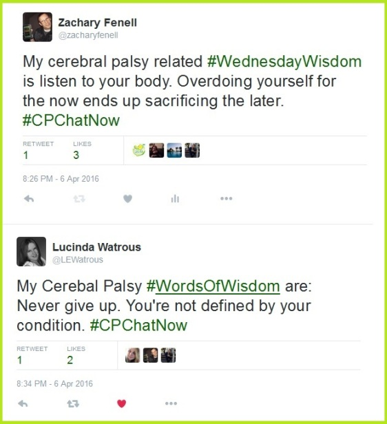 More cerebral palsy related Wednesday wisdom courtesty #CPChatNow community members