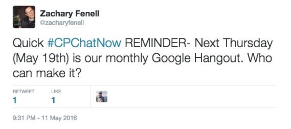 Google Hangout Reminder