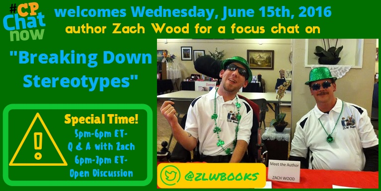 June 15th author Zach Wood will lead #CPChatNow in a focus chat on breaking down barriers.