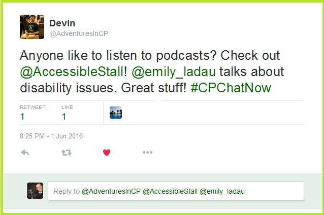 Devin recommends Emily Ladau's new podcast The Accessible Stall.