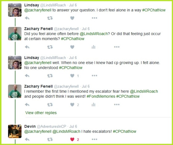 #CPChatNow builds community and lessens feeling isolated.