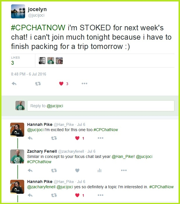 Tonight #CPChatNow's own Jocelyn leads a focus chat on concert going with cerebral palsy.