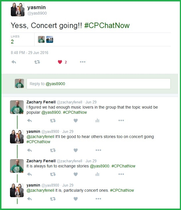 People are excited for July 13th's focus chat on concert going with cerebral palsy.