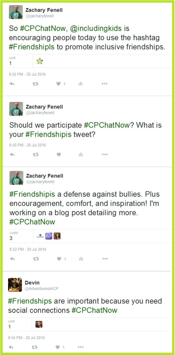 #CPChatNow participates in National Inclusion Project's #friendshipis initiative.