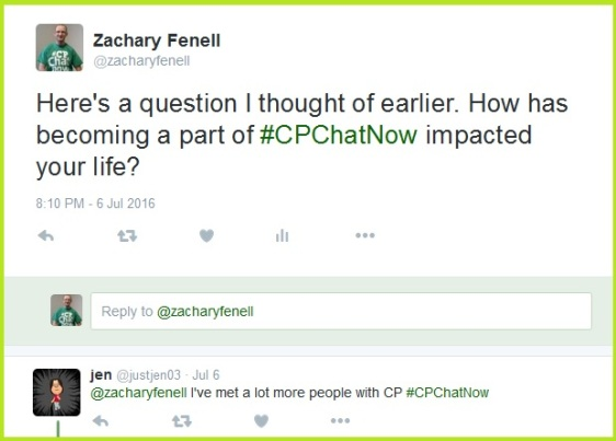 Co-host Zachary Fenell asks how has #CPChatNow impacted your life.