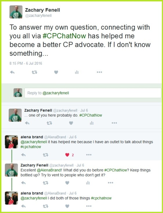 Co-host Zachary Fenell talks about how #CPChatNow has made him a better cerebral palsy advocate.