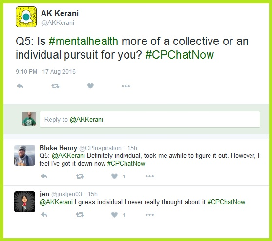 Question five asks if mental health is more of a collective or individual pursuit.