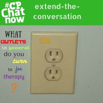 "This week's extend-the-conversation question asks ""What outlets in general do you turn to for therapy?"""