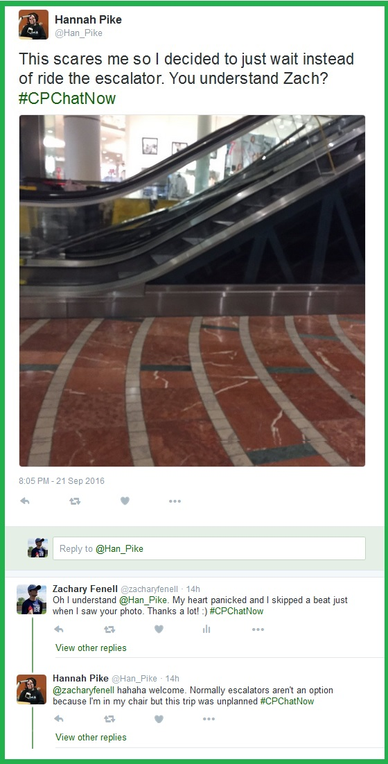 Majority of #CPChatNow participants seem to fear escalators.