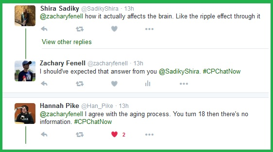 Aging with cerebral palsy proved one topic people want more information on.