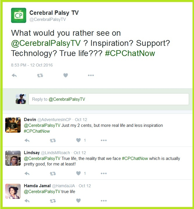#CPChatNow participants get to voice what they want to see on CPTV!