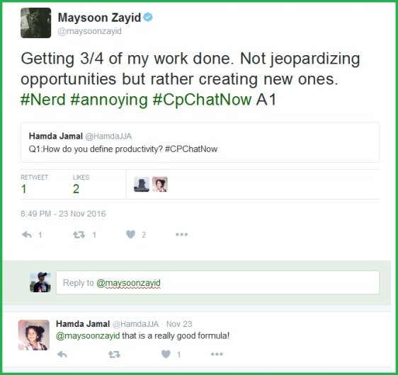 Maysoon Zayid gives her defintion of productivity.
