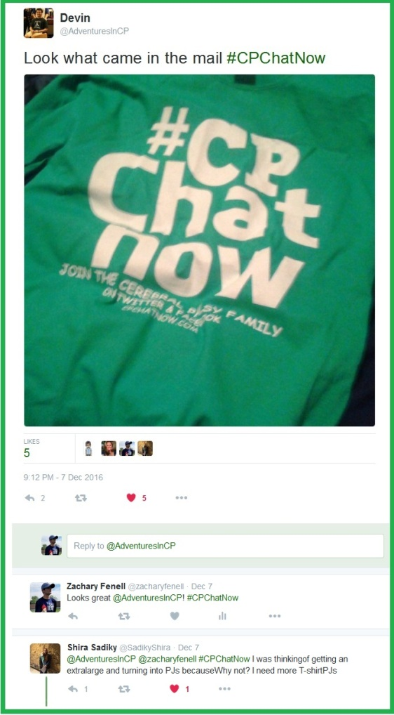 Devin shares a picture of his new #CPChatNow shirt.