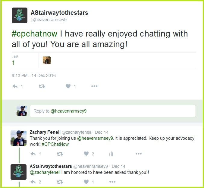 Heaven enjoyed her time leading a #CPChatNow focus chat.