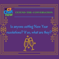 This week's extend-the-conversation questions asks about 2017 New Year resolutions.