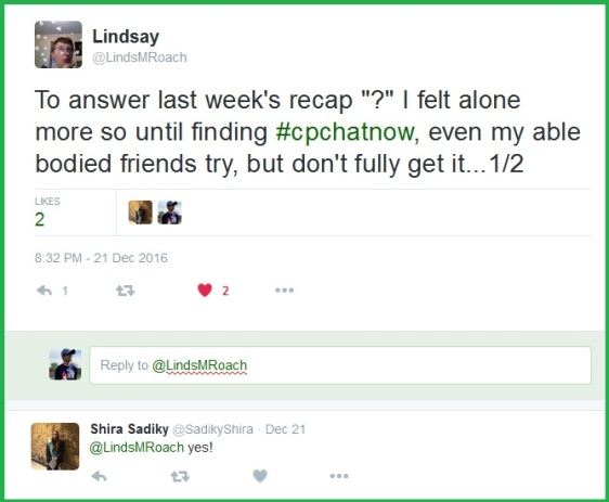 "Lindsay takes time to answer the extend-the-conversation question from the December 14th focus chat ""Strength Through Community.""."