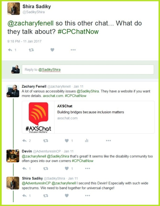 Co-host Zachary Fenell tells #CPChatNow about #AXSChat.