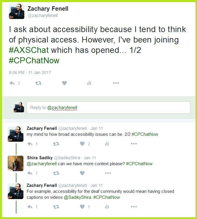 Co-host Zachary Fenell explains why he asked about accessibility.