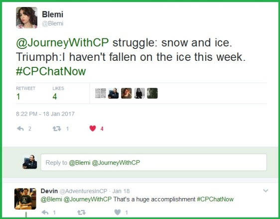 Blemi accomplishment is overcoming the struggle of snow and ice, not falling!