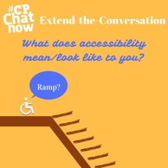 "This week's extend-the-conversation question asks ""What does accessibility mean/look like to you?"""