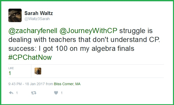 Sarah struggles to find empathy from her teachers.
