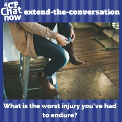 "This week's extend-the-conversation question asks ""What is the worst injury you've had to endure?"""