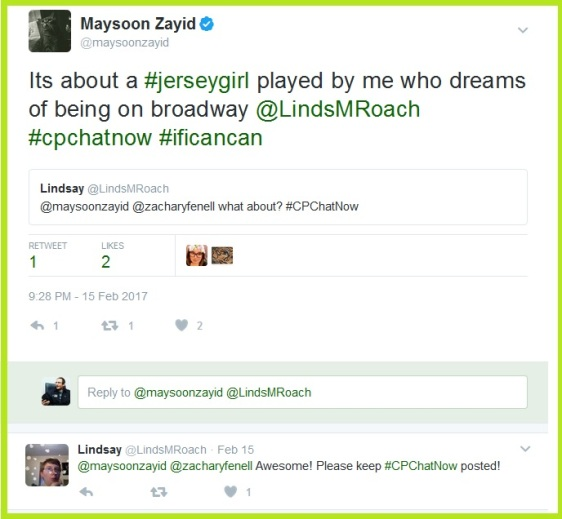 In I Can Can Maysoon will play a Jersey girl who dreams about being on broadway.