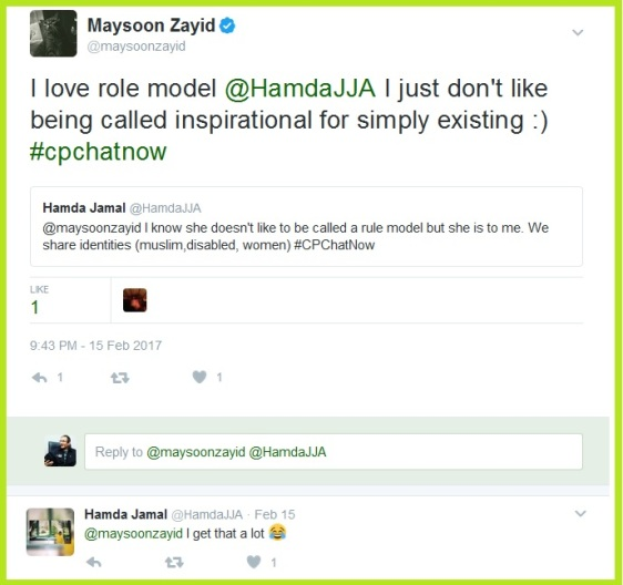 Maysoon Zayid gives her thoughts on being called a role model.