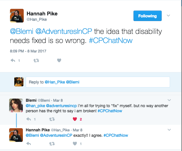 Hannah and Blemi talking about the misconception disability needs to be fixed