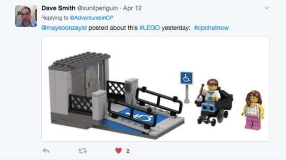 Dave Smith posting about wheelchair ramp from LEGO Re: Maysoon Zayid