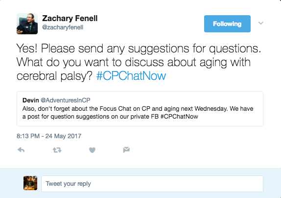 Zach announcing our focus chat on aging