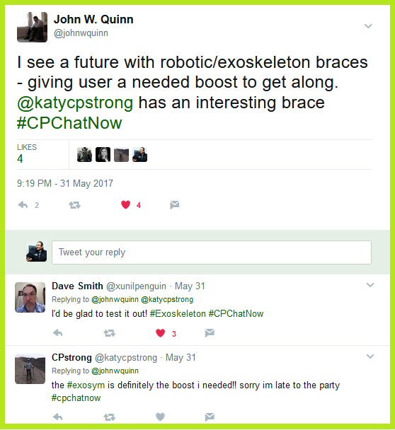 John W. Quinn believes ekoskeleton braces could provide the CP community a boost in the future.