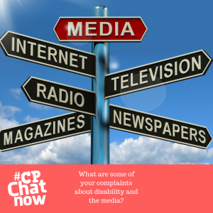 A street sign behind a clear blue sky with clouds. The sign has arrows saying internet, radio, magazines pointing to the left with television and newspapers pointing to the right. The CPChatNow logo is in white on top of a pink background and the extend the conversation question is also there in white