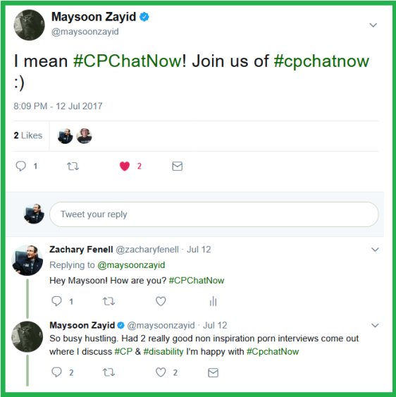 Maysoon Zayid takes time out of her hustle to say hello to CPChatNow.