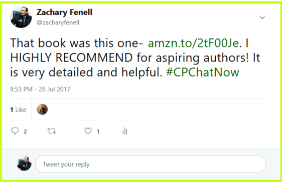 Zachary recommends aspiring authors read Publishing & Marketing Realities for the Emerging Author by Christine Rose.