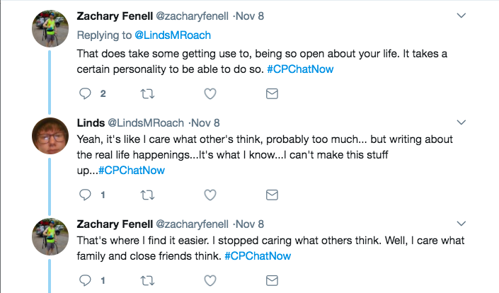 Zach and Lindsey discussing the difficulty of getting over caring what others think
