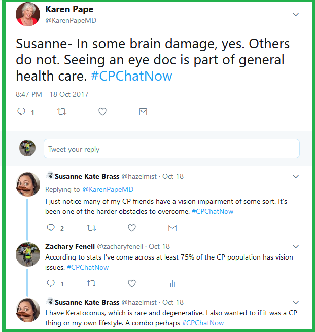 Dr. Pape responds to Susanne's question whether there stands a connection between brain injury and vision impairment.