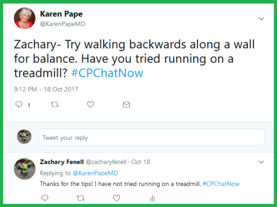 Dr. Pape advises Zachary on how to overcome habit and learn to run.