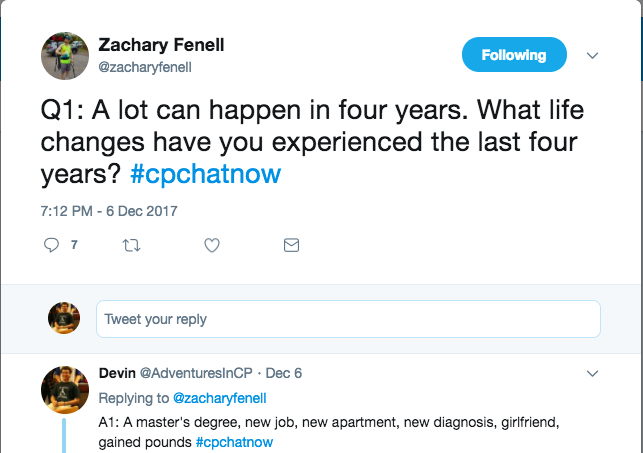Zach asking what has changed over the past 4 years. I answered with some changes including a master's degree, girlfriend