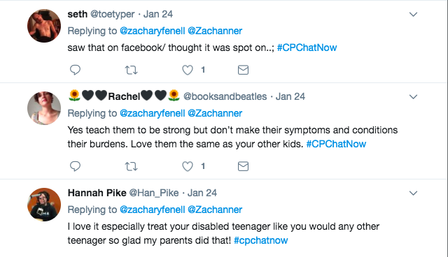 Seth, Rachel, and Hannah agree with the video's assertion that kids with CP should be treated like other kids