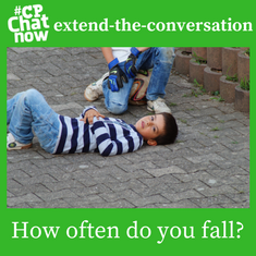 "Answer for the week's extend-the-conversation question, ""How often do you fall?"""