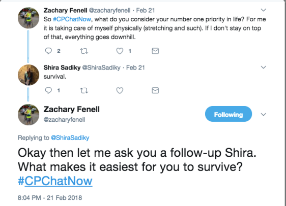 Shira responded her number one priority is survival. Zach asked a follow up question about what makes it easiest for her to survive