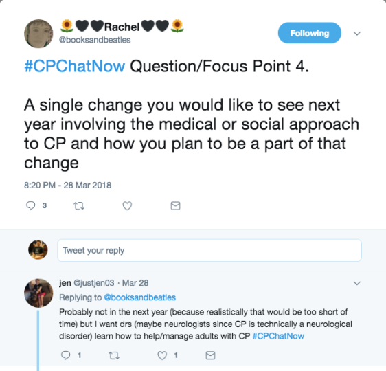 Rachel asking what members want to see change with CP. Jen mentioned better medical management