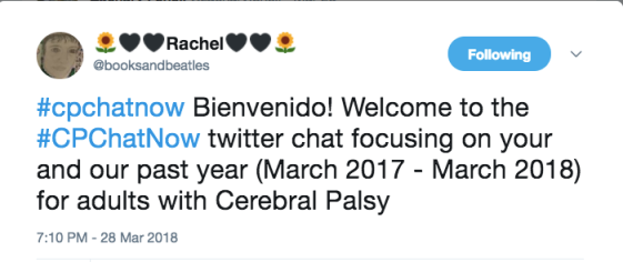 Rachel introducing the chat topic