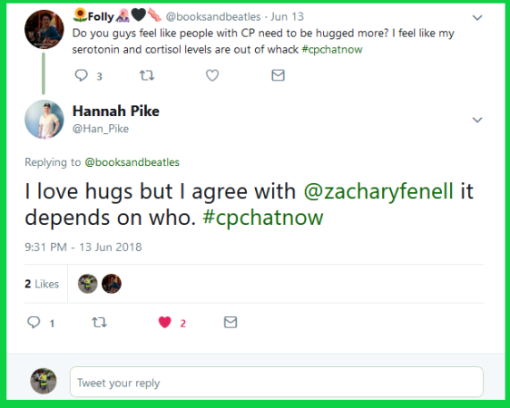Hannah gives her take on receiving hugs.