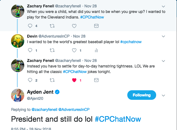 Ayden tweeted about wanting to become President